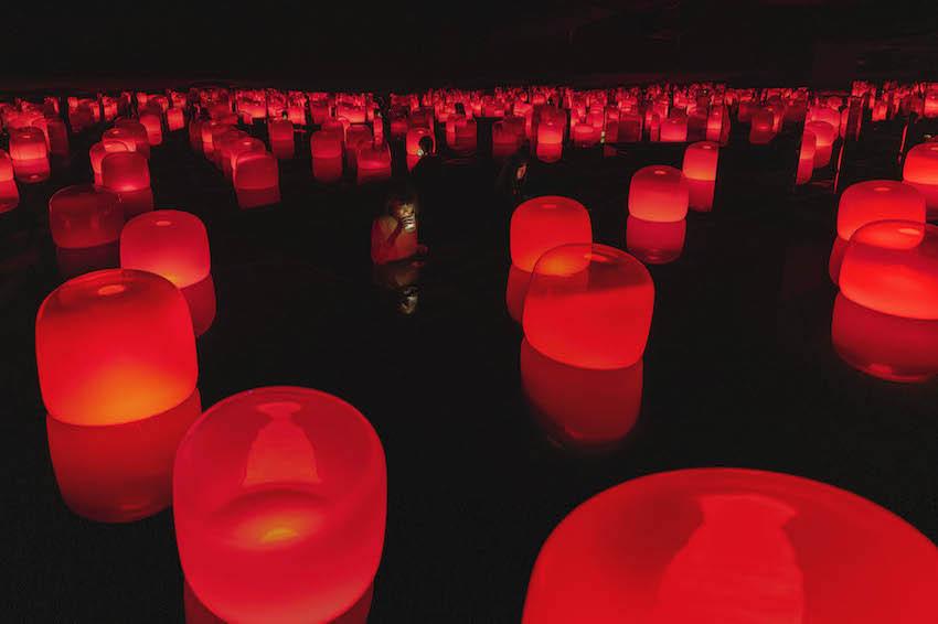 日本藝術團隊Teamlab再出新招!日本岡山古老的福岡醬油廠變身藝廊,光X茶交織的夢幻藝術登場!展期到2022年3月止