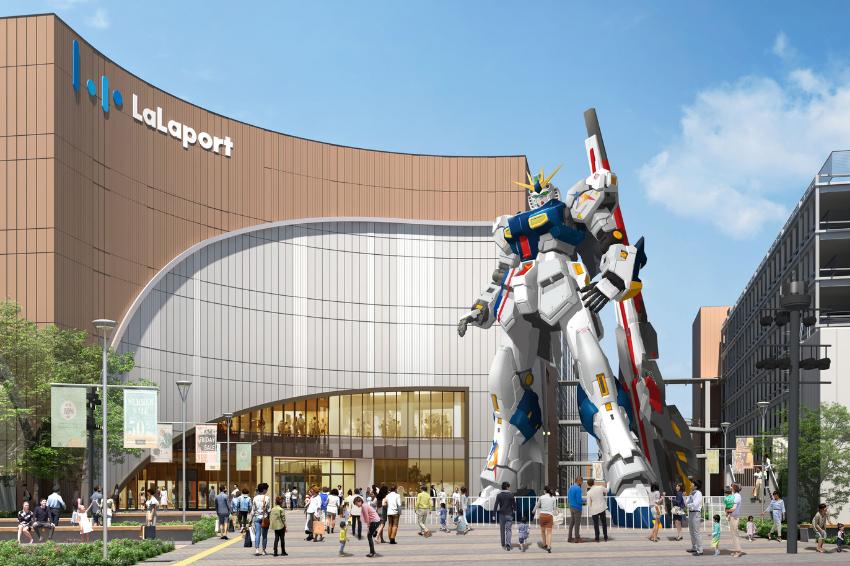 福岡新地標誕生!「LaLaport福岡購物中心」2022年春季開幕,九州首座等比還原巨型鋼彈也座落於此!