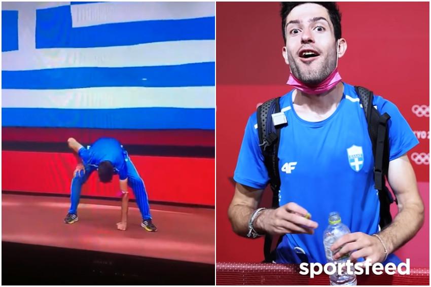 東京奧運/動漫宅力無遠弗屆!希臘跳遠金牌模仿one piece魯夫開二檔,賽後開心表示:「那是會讓人變強的招式」!