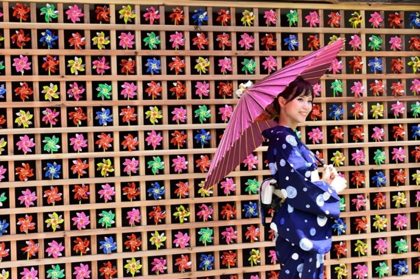 日本福井武家屋敷,夢幻的風車牆超上相!