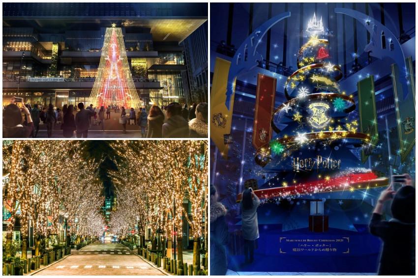 120萬顆燈泡點亮東京!2021丸之內彩燈節11月閃亮登場,哈利波特主題增添魔法氛圍