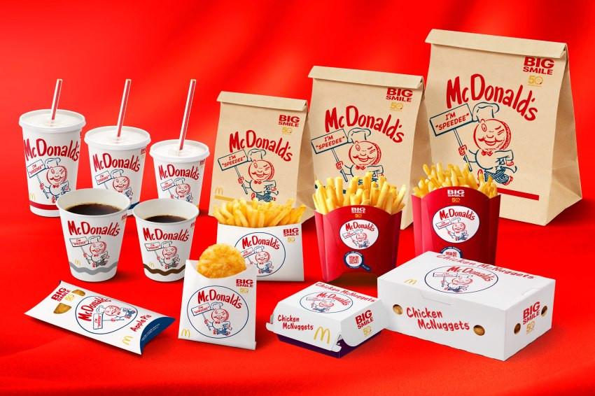 麥當勞登陸日本50周年了!紙袋換新裝,美國麥當勞草創期角色「Speedee」復古包裝5月席捲全日本!