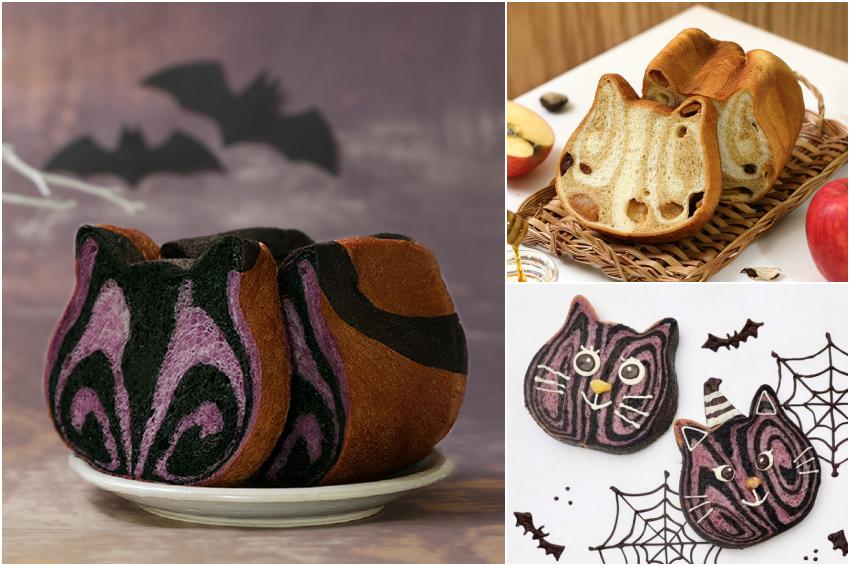 這款絕對搶翻天!貓咪吐司應景萬聖節推出「紫薯可可」吐司,熱騰騰濃郁麵包香攻佔嗅覺與味覺!