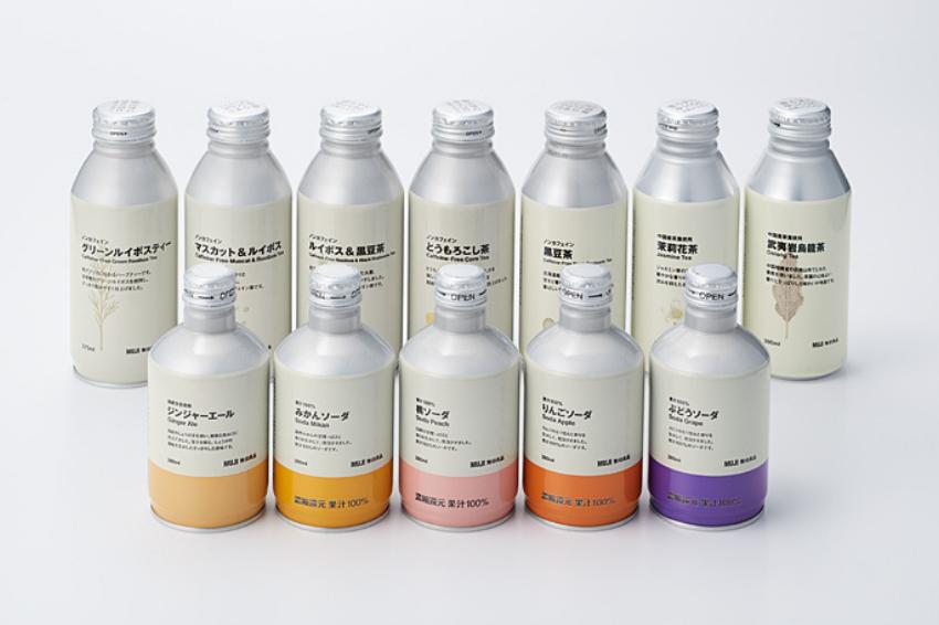 日本無印良品12款飲品換上文青鋁罐包裝!全新外型極具質感,且更愛護地球!