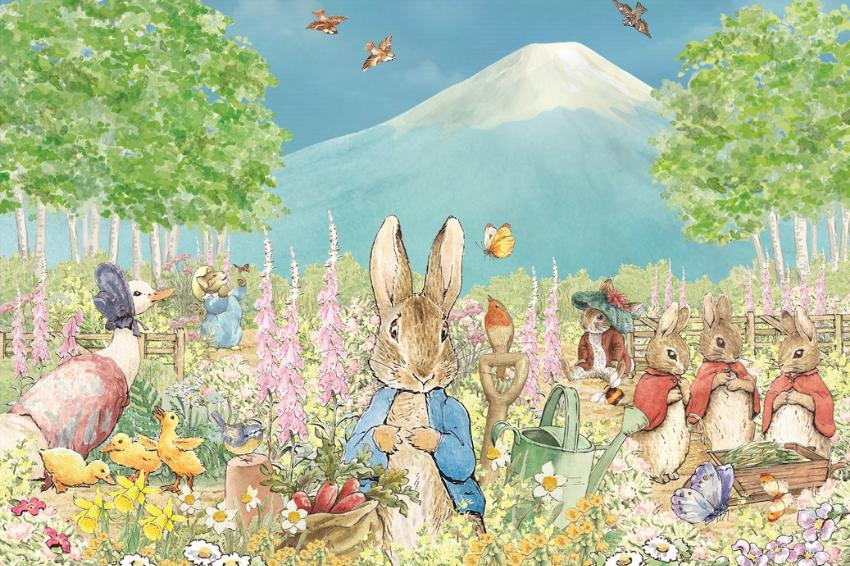 富士山下的絕美庭園誕生!「彼得兔英式庭園」預計2022年春季開園,在本栖湖旁感受十足歐陸風情