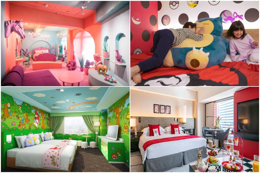 抱著卡比獸入眠、享用愛麗絲夢遊仙境早餐,東京超萌主題房巡禮,帶著小孩入住讓你玩到不想睡!