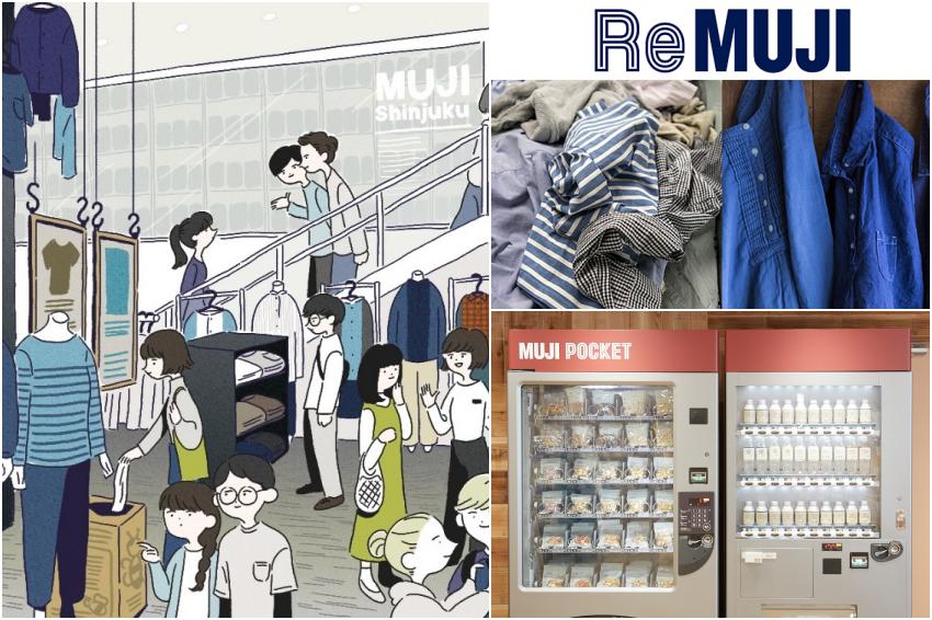無印良品新宿兩大店舖翻新!「MUJI 新宿」更增設旗下最大「ReMUJI」,喜愛復古文青服飾的人有福了!