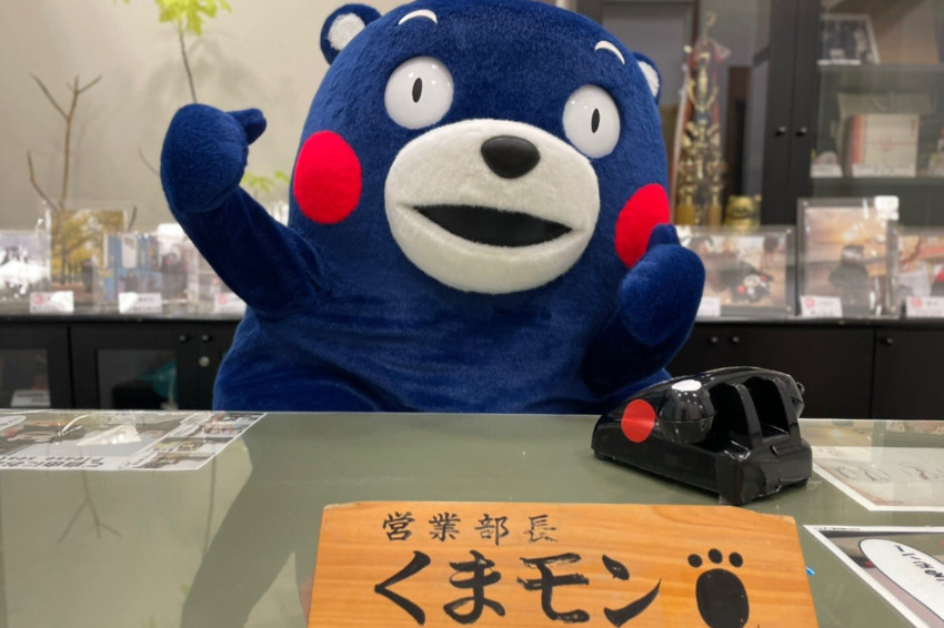 東京奧運/熊本熊變藍了!原來是換上「日本藍」新造型要為日本奧運代表加油啦~
