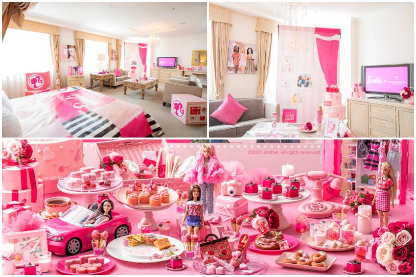 Barbie × THE STRINGS HOTEL!歡慶芭比誕生60週年日本首間芭比主題房,名古屋夢幻登場,一圓你的粉紅公主夢!